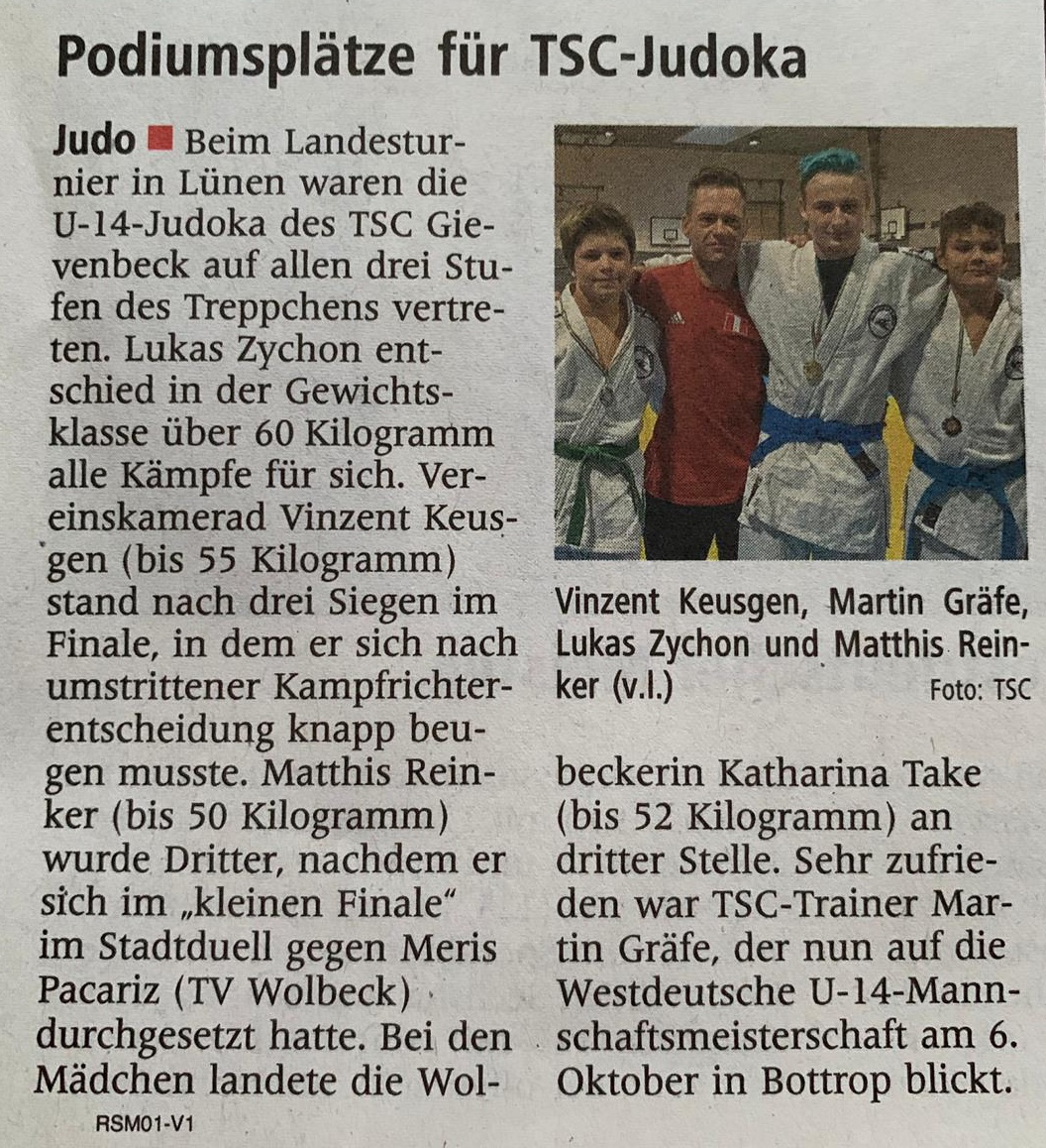 2019 September 08 LET U14 Zeitung